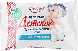 """Крем-мыло """"Детское"""" для чувствительной кожи с козьим молоком - Linom — фото N1"""