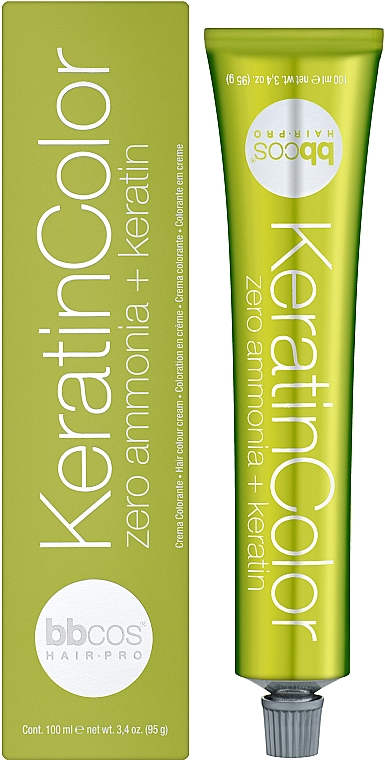 Краска для волос, безаммиачная - BBCos Keratin Color Hair Cream