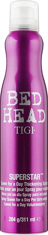 Спрей для дополнительного объема волос - Tigi Superstar Queen For A Day Thickening Spray