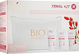 Духи, Парфюмерия, косметика Набор - Phytorelax Laboratories Bio Active Age Goji (f/milk/40ml + cr/20ml + cr/20ml + bag)