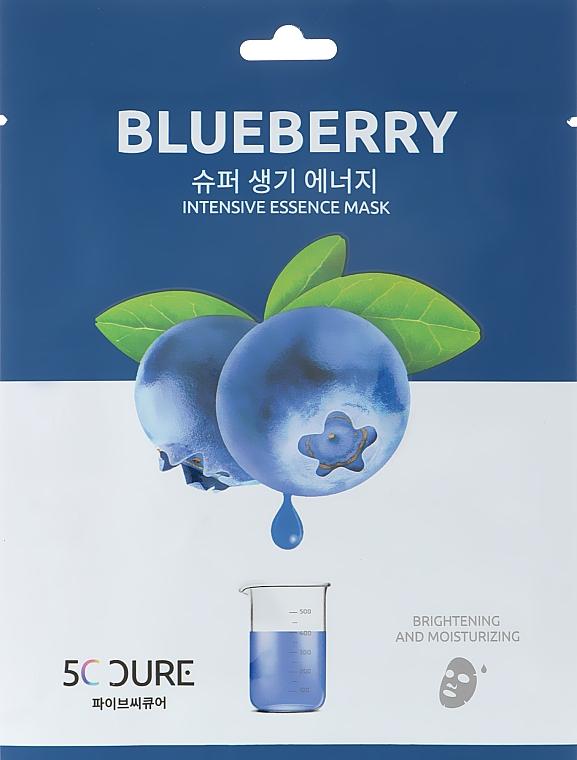 Маска для лица с экстрактом черники - Jkosmec 5C Blueberry