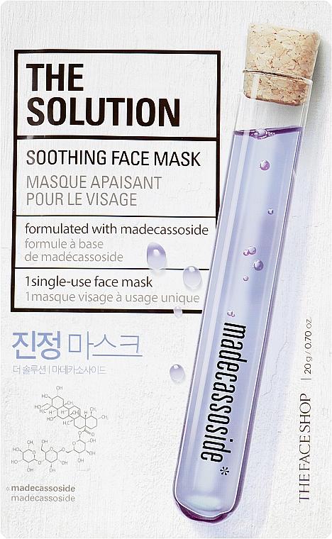 Успокаивающая маска для лица - The Face Shop The Solution Soothing Face Mask