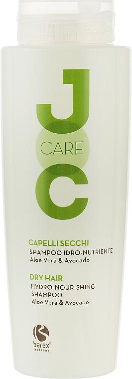 Шампунь для сухих и ослабленных волос с алоэ вера и авокадо - Barex Italiana Hydro-nourishing Shampoo Aloe Vera & Avocado