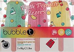 Духи, Парфюмерия, косметика Набор бомбочек для ванны - Bubble T Bath Popsicle Fizzers (bath/bomb/3x80g)