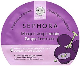 """Духи, Парфюмерия, косметика Тканевая маска для лица """"Виноград"""" - Sephora Face Mask"""