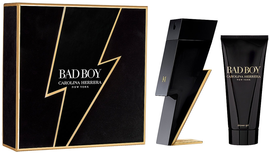 Carolina Herrera Bad Boy - Набор (edt/100ml + sh/gel/100ml)