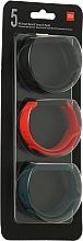Духи, Парфюмерия, косметика Набор ремешков для Mi Smart Band 5, Black Orange Cyan - Xiaomi