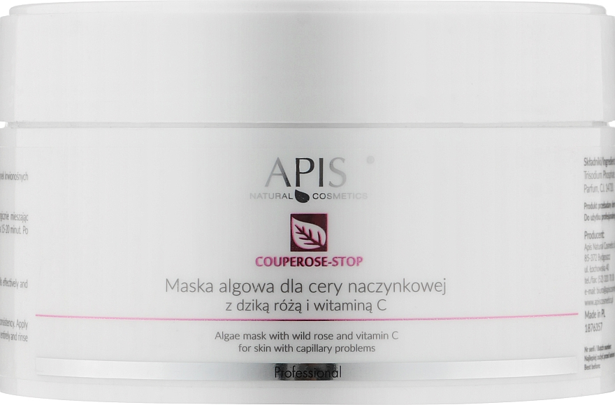 Маска для лица с экстрактом шиповника - APIS Professional Algae Mask