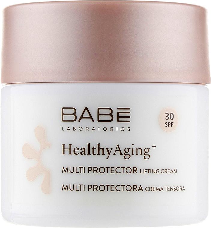 Дневной мультизащитный лифтинг крем c DMAE и SPF 30 - Babe Laboratorios Healthy Aging Multi Protector Lifting Cream