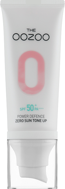 Солнцезащитный крем, выравнивающий текстуру кожи лица - The Oozoo Power Defence Zero Sun Tone-up SPF50 PA++++