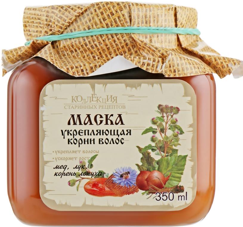 Маска укрепляющая корни волос мед, лук, корень лопуха - Bioton Cosmetics