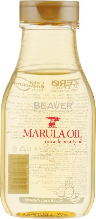 Питательный шампунь для сухих и поврежденных волос с маслом Марулы - Beaver Professional Nourish Marula Oil Shampoo (мини)