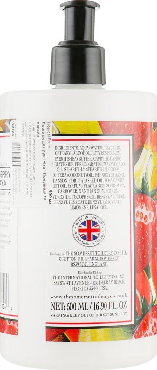 "Лосьон для рук и тела ""Клубника и папайя"" - The Somerset Toiletry Co. Tropical Fruits — фото N2"
