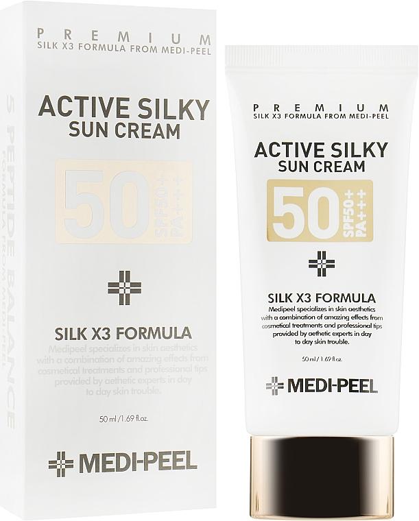 Солнцезащитный крем - Medi Peel Active Silky Sun Cream SPF50+ /PA+++