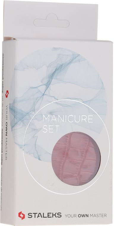 """Набор маникюрный """"Lady"""", MS-02, 5 предметов, змея красная - Staleks Manicure Set"""