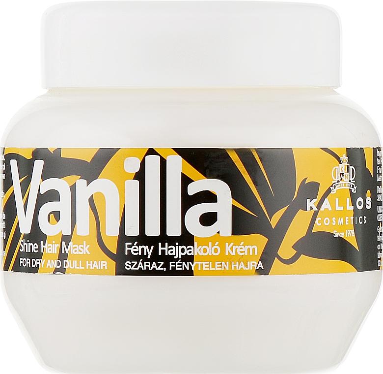 Маска для сухих волос - Kallos Cosmetics Vanilla Shine Hair Mask