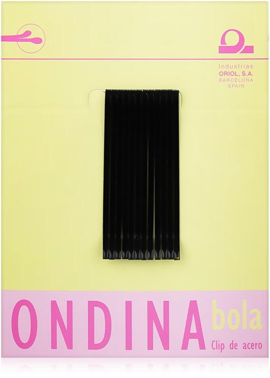 Невидимки для волос 50 мм, черные - Ondina