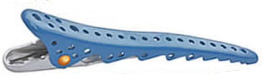Зажим для волос, 106мм, Blue Metal - Y.S.Park Professional Shark Clip