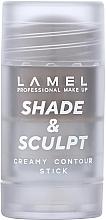 Парфумерія, косметика Кремовий контур для обличчя - Lamel Professional Creamy Contour Shade & Sculpt Stick