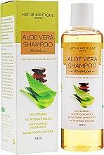 Духи, Парфюмерия, косметика Натуральный шампунь для волос с органическим алоэ вера - Natur Boutique Aloe Vera Shampoo Revitalizing