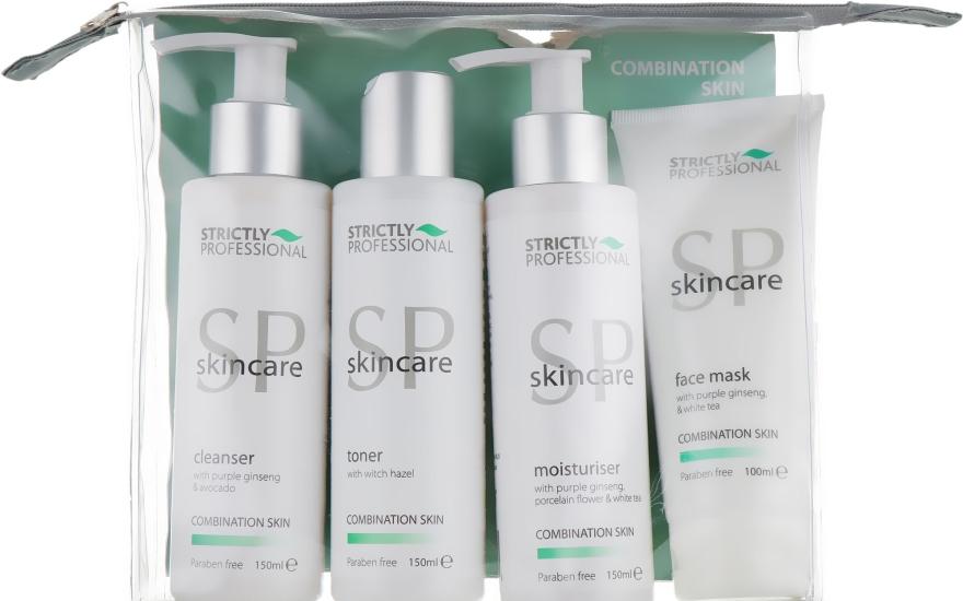 Набор для комбинированной кожи - Strictly Professional SP Skincare (cleanser/150ml + toner/150ml + moisturiser/150ml + mask/100ml)