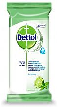 Духи, Парфюмерия, косметика Антибактериальные салфетки для мытья и дезинфекции - Dettol Antibacterial Cleansing Surface Wipes Lime and Mint
