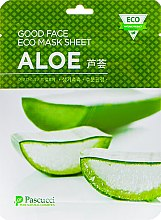 Духи, Парфюмерия, косметика Маска для лица с алоэ - Pascucci Good Face Eco Mask Sheet Aloe