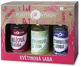 Духи, Парфюмерия, косметика Набор - Purity Vision Bio (rose/water/100ml + camomile/water/100ml + lavender/water/100ml)