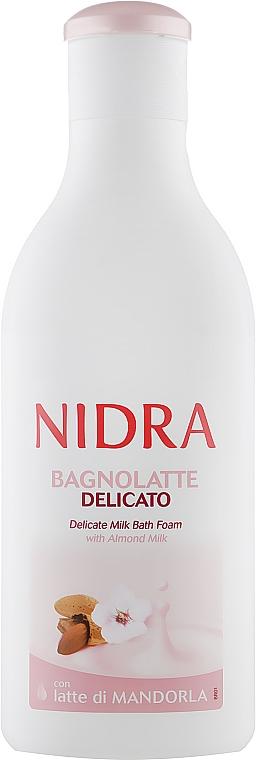 Пена-молочко для ванны с миндальным молоком - Nidra Delicate Milk Bath Foam With Almond Milk