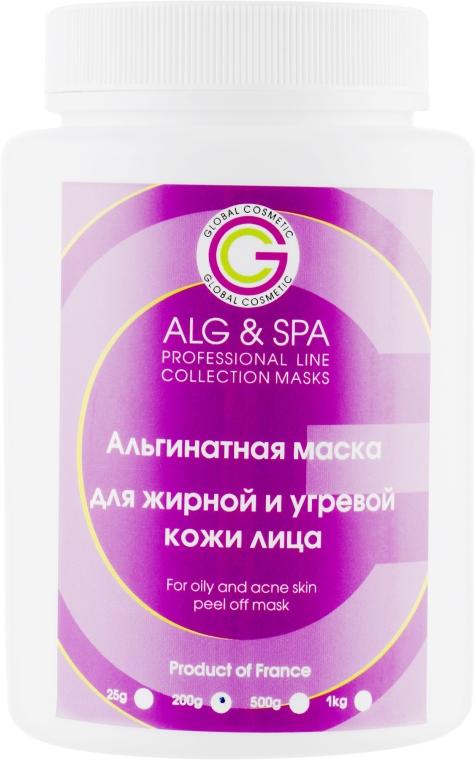 Альгинатная маска для жирной и угревой кожи - ALG & SPA Professional Line Collection Masks For Oily And Acne Skin Peel Off Mask