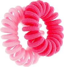 Духи, Парфюмерия, косметика Резинки для волос, 414580, малиновая + розовая - Glamour