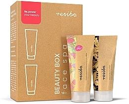 Духи, Парфюмерия, косметика Набор - Resibo Beauty Box Face Spa (mask/mini/15ml + peel/mini/15ml)