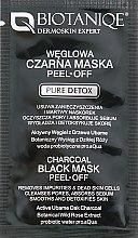 Духи, Парфюмерия, косметика Маска-пленка для лица с дубовым углём - Maurisse Biotaniqe Charcoal Black Mask Peel-Off (пробник)