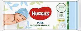Духи, Парфюмерия, косметика Влажные салфетки для новорожденных, 56 шт - Huggies Pure Bio