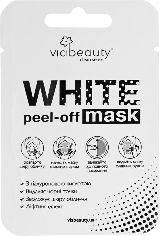 Очищающая маска-пленка с гиалуроновой кислотой - Via Beauty White Mask