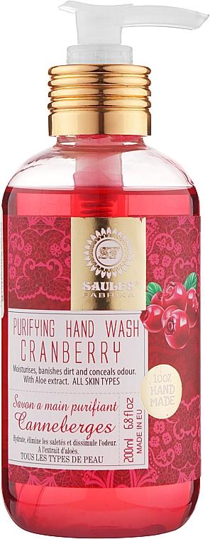 """Жидкое мыло """"Клюква"""" - Saules Fabrika Purifying Hand Wash"""