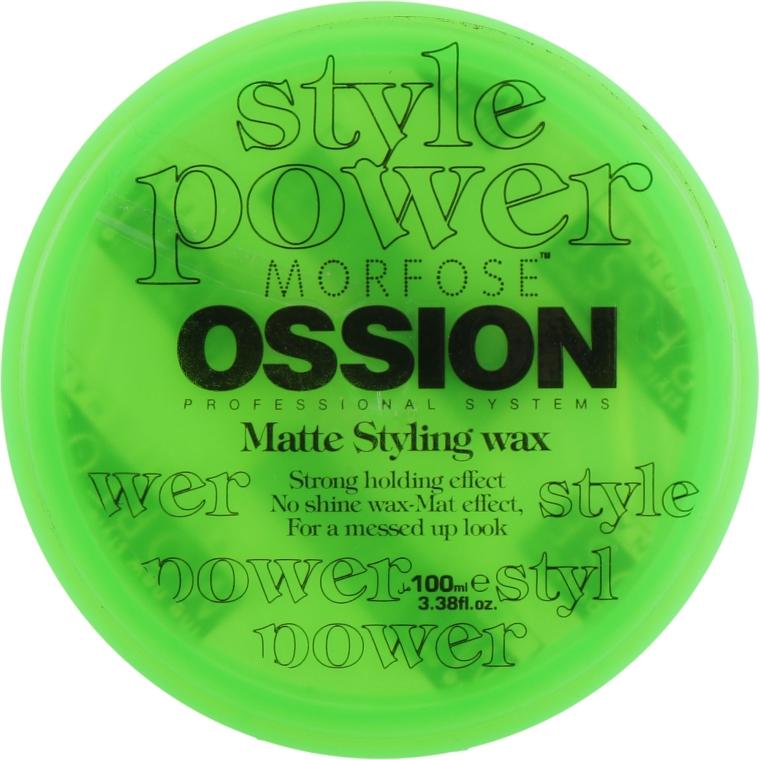 Воск матирующий для волос и бороды - Morfose Ossion Matte Wax For Hair