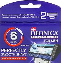 Духи, Парфюмерия, косметика Сменные кассеты для бритья, 6 лезвий, 2 шт. - Deonica For Men