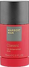 """Духи, Парфюмерия, косметика Дезодорант-стик """"24 часа защиты"""" - Marbert Man Classic 24h Anti-Perspirant Stick"""