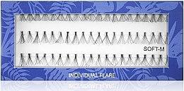 Духи, Парфюмерия, косметика Накладные пучковые ресницы Soft M - Muba Factory Individual Flare Long Black Soft Mubalashes