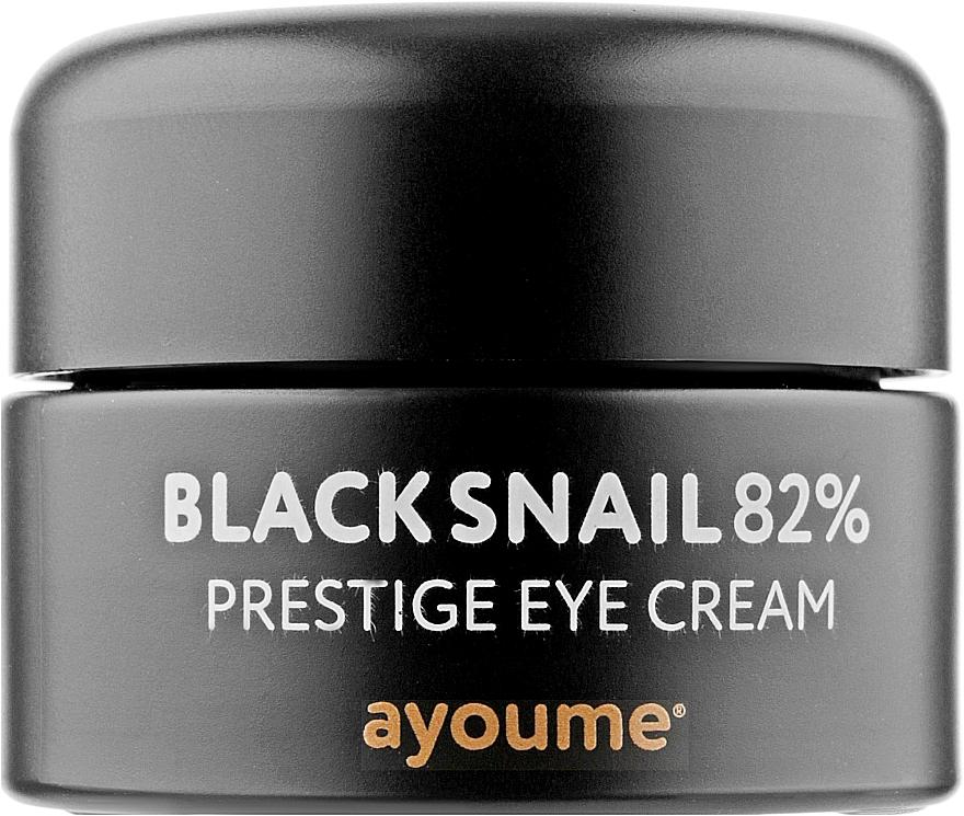 Крем для век с муцином улитки против морщин - Ayoume Black Snail Prestige Eye Cream