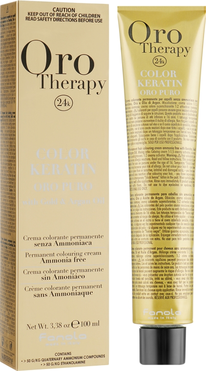 Стойкая крем-краска - Fanola Oro Therapy Puro Intensifier Coloring Cream
