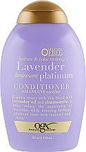 Духи, Парфюмерия, косметика Кондиционер для окрашенных волос на основе лавандового масла - OGX Lavender Platinum Conditioner