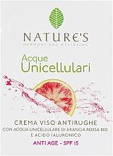 Духи, Парфюмерия, косметика Крем антивозрастной для лица - Nature's Acque Unicellulari Anti-Aging Cream SPF 15 (пробник)
