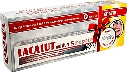 Духи, Парфюмерия, косметика Набор - Lacalut White & Repair Set (t/paste/75ml+mirror)