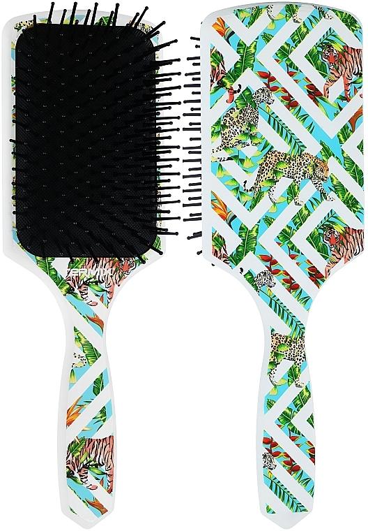 Цветная массажная щетка «Wild New», белая с леопардом - Termix Professional