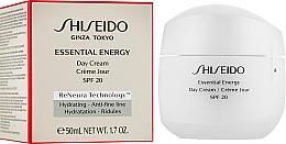 Дневной энергетический крем для лица - Shiseido Essential Energy Day Cream SPF20  — фото N2