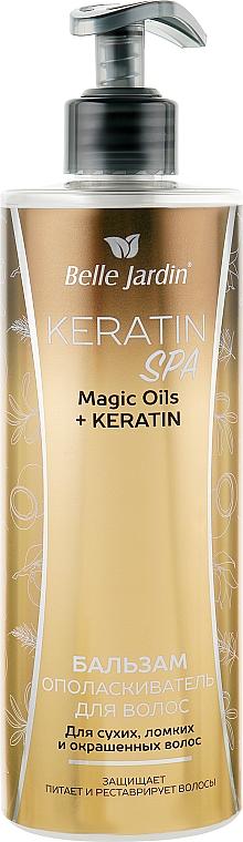 Бальзам-ополаскиватель для сухих, ломких и окрашенных волос - Belle Jardin Keratin SPA Magic Oil + Keratin