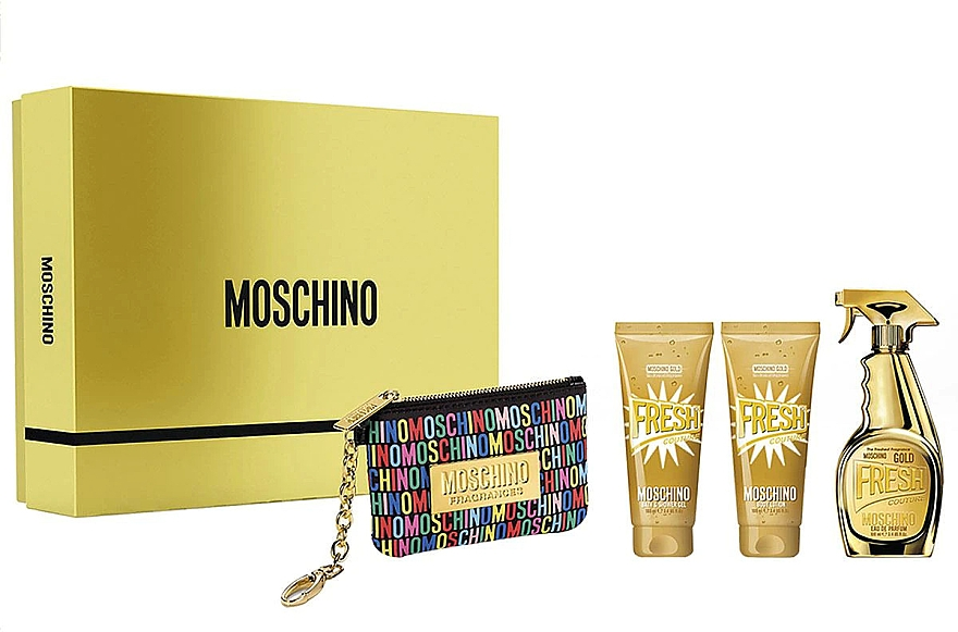 Moschino Gold Fresh Couture - Набор (edp/100ml + b/lot/100ml + s/gel/100 ml + bag)