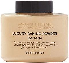 Духи, Парфюмерия, косметика Рассыпчатая минеральная банановая пудра - Makeup Revolution Luxury Baking Powder Banana
